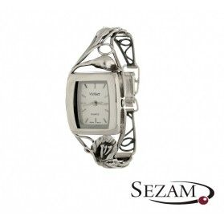 Zegarek srebrny damski VIOLETT numer KO 03-28 kwadrat secesja a