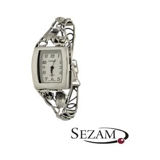 Zegarek srebrny damski numer KO 03-28 kwadrat secesja b