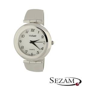 Zegarek srebrny damski VIOLETT numer KO 03-39 okrągły duży b