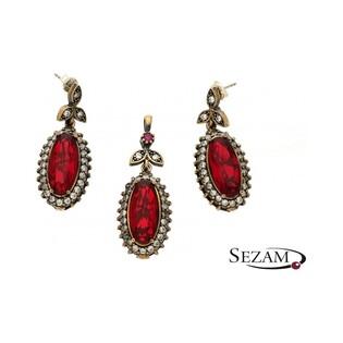 Komplet biżuterii ze srebra i mosiądzu Sophie Thao numer SR 68CZ