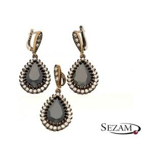 Komplet biżuterii srebrnej z kolekcji Sophie Thao numer SR 70CZAR