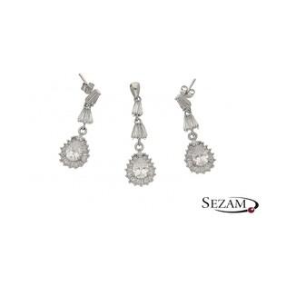 Komplet biżuterii srebrnej numer A017/sztyft