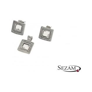 Komplet biżuterii srebrnej z kolekcji Aurora numer A015/K+Z