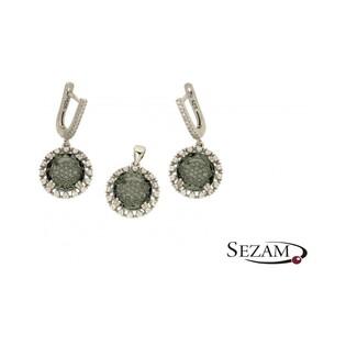 Komplet biżuterii srebrnej z kolekcji Aurora numer A041