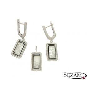 Komplet biżuterii srebrnej z kolekcji Aurora numer A042