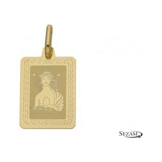 Zodiak złoty Panna numer OS 204-Z062-VER