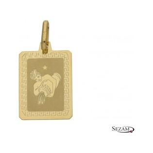 Zodiak złoty Wodnik numer OS 204-Z062-ACQ