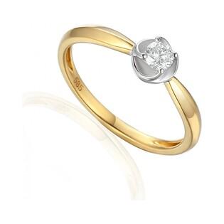 Pierścionek zaręczynowy z brylantem numer AW 38482 YW PAULA