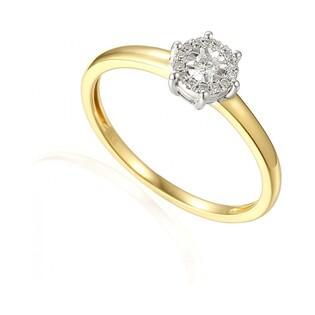 Pierścionek złoty z diamentami SWEET AW 48553 YW próba 585 Sezam - 1