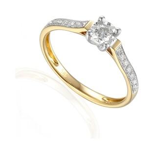 Pierścionek zaręczynowy z diamentami  AW 60551 YW Soliter Sezam - 1