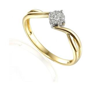 Pierścionek zaręczynowy z brylantami Sweet bis numer AW 55227 YW