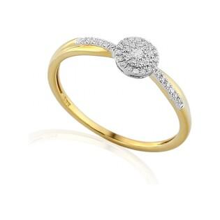 Pierścionek zaręczynowy z brylantami numer AW 46707 YW Mirage Sezam - 1