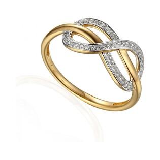 Pierścionek zaręczynowy z brylantami numer AW 63447 Y motyw INFINITY