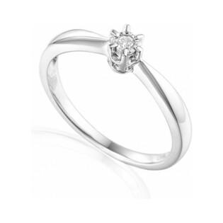 Pierścionek zaręczynowy z brylantem Royal Magic numer AW 45803 W białe złoto