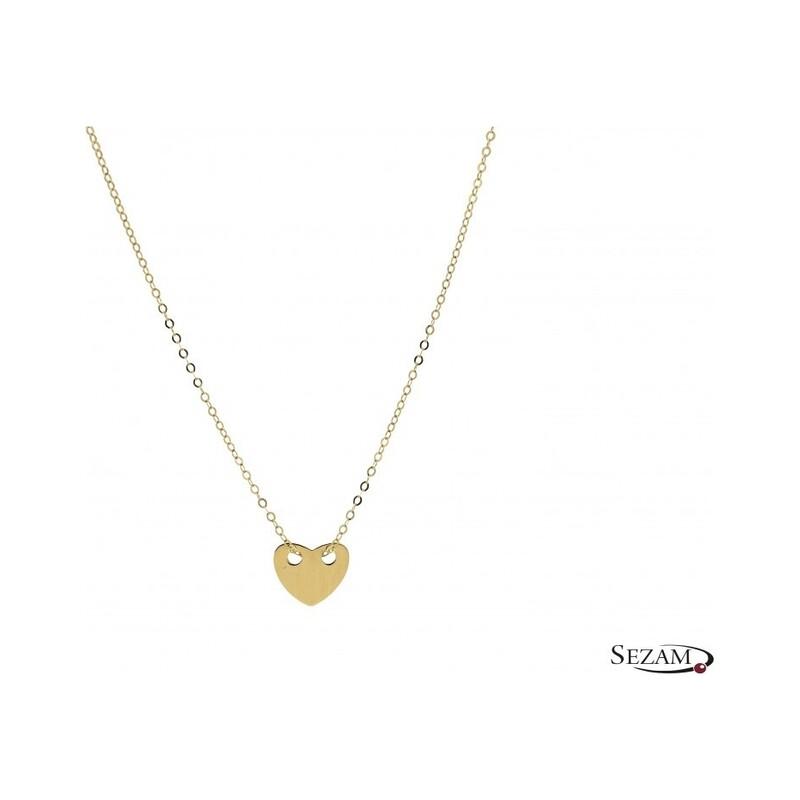 Naszyjnik złoty z kolekcji Happy numer BH ALC183G serce /rolo