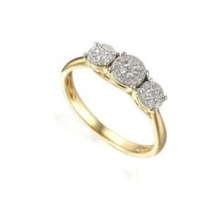 Pierścionek zaręczynowy z diamentami numer AW 53534 YW Sweet