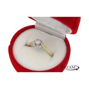 Pierścionek zaręczynowy z brylantem nr KU 3992 Flower Magic