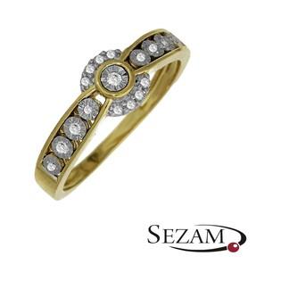 Pierścionek zaręczynowy z diamentami nr KU 4056 Sweet bis fancy