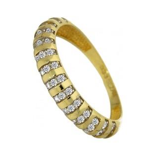 Pierścionek złoty z cyrkoniami numer MZ R25-CZ