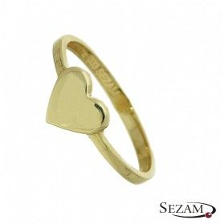 Pierścionek złoty serce numer MZ R0515-1