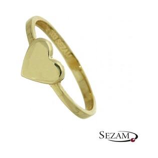 Pierścionek złoty serce numer MZ R0515-1 Au 333 Sezam - 1