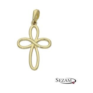 Krzyżyk złoty numer MZ P344 AU 333