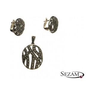 Kolczyki srebrne z kolekcji Art Deco numer A072