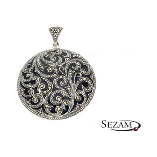 Zawieszka srebrna z kolekcji Art Deco numer MLZK0223 koło