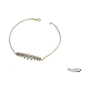 Bransoleta damska złota z cyrkoniami numer AR 7B1887-FCZ