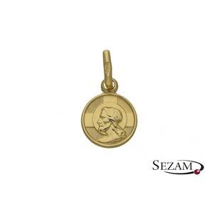 Medalik złoty numer BC1