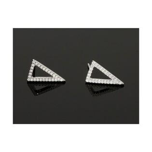 Kolczyki srebrne trójkąty SIMPLE numer OA F0725