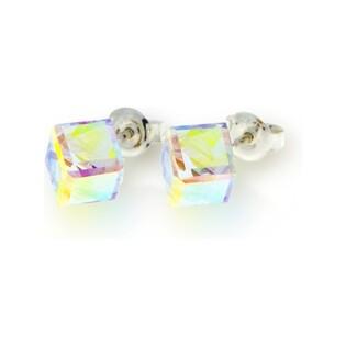 Kolczyki srebrne z kryształami Swarovski nr CQ K48416AB