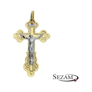 Krzyżyk męski złoty z wizerunkiem Jezusa numer PF01/K Au 585
