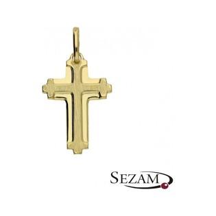 Krzyżyk złoty unisex numer PF03/K Au 585