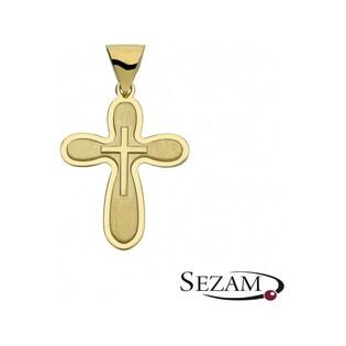 Krzyżyk złoty matowy numer FL02/K Au 585