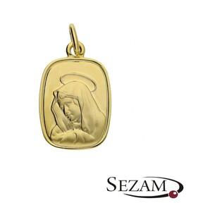 Medalik złoty z wizerunkiem Matki Boskiej Bolesnej numer KM KM474 Au 333