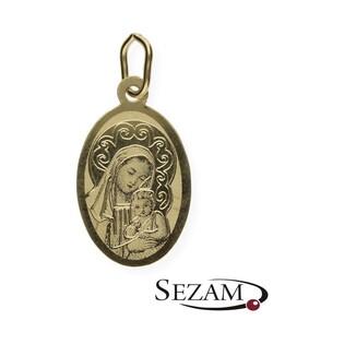 Medalik złoty Matka Boska z Dzieciątkiem Jezus nr OP70 próba 585