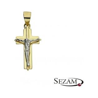 Krzyżyk złoty dwukolorowy numer AR 210444-YW Au 333