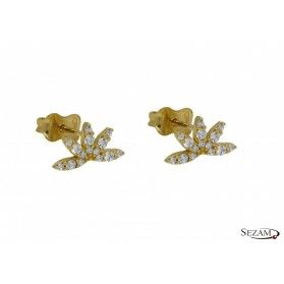 Kolczyki złote z cyrkoniami numer AR 5722-FCZ Au 585