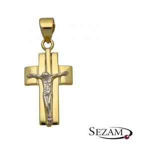 Krzyżyk złoty dwukolorowy numer AR 210446-YW-II