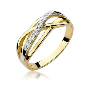 Pierścionek zaręczynowy z diamentami nr BE W-157 próba 585 Venezia