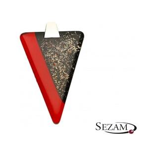 Zawieszka trójkąt wykonana ze szkła Murano numer KQ T21