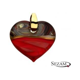 Serce wykonane ze szkła Murano numer KQ AT-SAN MARCO bordo