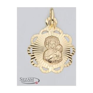 Medalik złoty z Matką Boską Częstochowską nr M/0656 próba 585