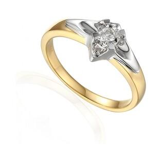Pierścionek zaręczynowy z brylantem UNICO Magic AW 64113 YW próba 585 Sezam - 1
