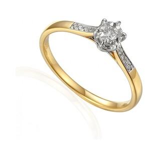 Pierścionek zaręczynowy z diamentami nr AW 63572 YW Au 585 Soliter Magic