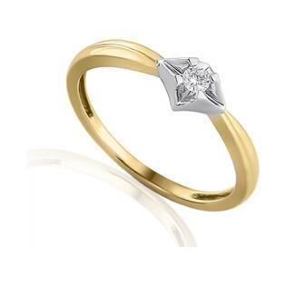 Pierścionek zaręczynowy z diamentami nr AW 38510 YW Au 585 UNICO