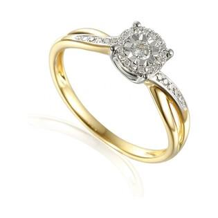 Pierścionek złoty z diamentami SWEET AW 55230 YW próba 585 Sezam - 1