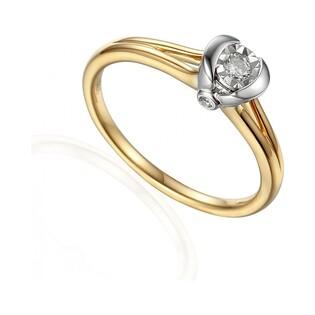 Pierścionek zaręczynowy z brylantami VICTORIA Magic AW 63466 YW próba 585 Sezam - 1