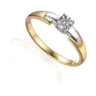Pierścionek zaręczynowy z diamentami nr AW 61129 YW Au 585 Soliter Magic